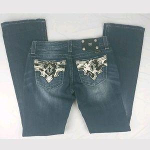 Miss Me Womens Blue Jean Pants Sz 27